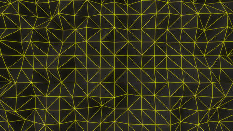 0956 Dark low poly displaced surface with yellow glowing lines Footage