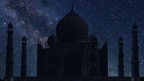 Taj Mahal night time lapse Footage