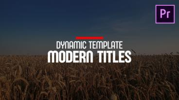 Modern Titles Motion Graphics Template