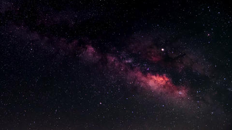 TimeLapse - Milky Way and the movement of stars Footage