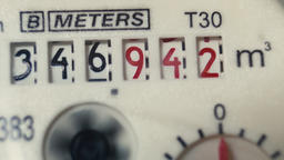 The water meter is showing water consumption Footage
