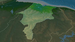 Maranhao - state of Brazil. Physical Animation