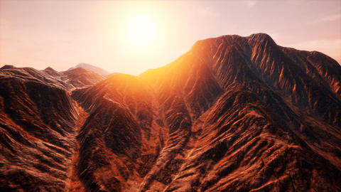 Sun Rays over Mountains in a Valley Live Action