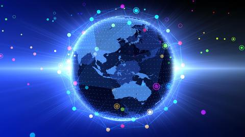 Earth on Digital Network 18 Q2B 4k Animation