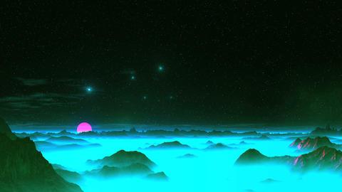 UFO Dance Over Alien Planet GIF