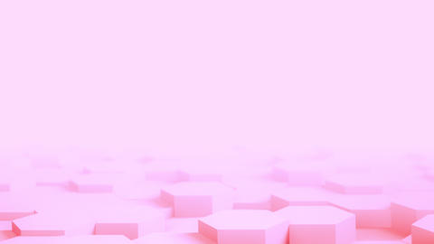 Abstract pink Hexagon Geometric desktop Surface Smooth Move light bright clean Live Action