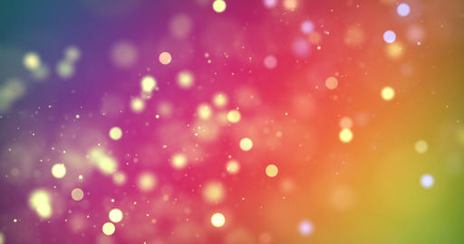 christmas digital glitter sparks multi color particles bokeh flowing on colorful background, holiday Live Action