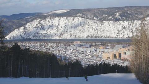 Ski Resort Divnogorsk 04 Stock Video Footage