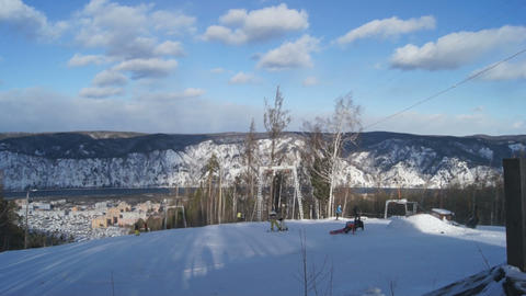 Ski Resort Divnogorsk 06 Stock Video Footage