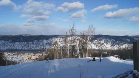 Ski Resort Divnogorsk 06 Stock Video Footage