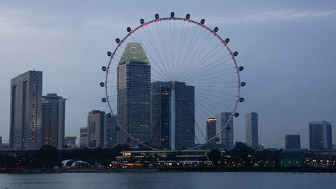Singapore Flyer Stock Video Footage