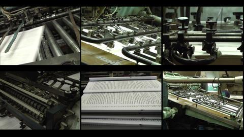 Videowall printing Stock Video Footage