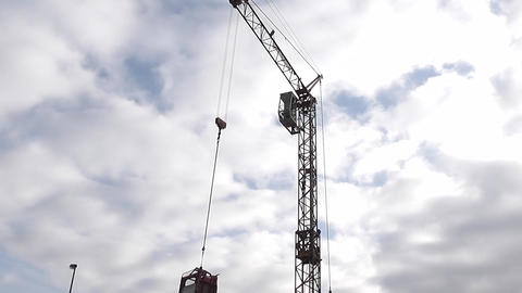 Industrial crane and cab Stock Video Footage
