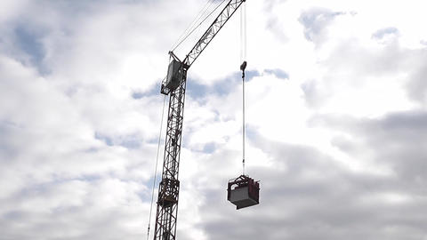 Industrial crane and cab Footage