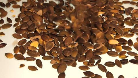 Healthy roasted pumpkin seeds Stock Video Footage