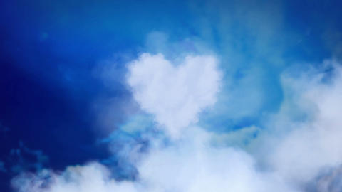 Love is in the air - heart from clouds Animation