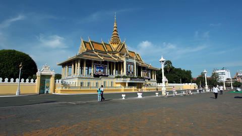 Phnom Penh Royal Palace Stock Video Footage