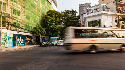 SAIGON TRAFFIC TIME LAPSE Stock Video Footage