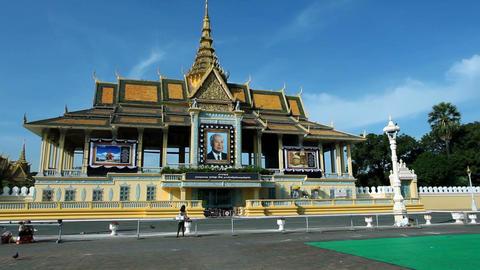 Phnom Penh Royal Palace Footage