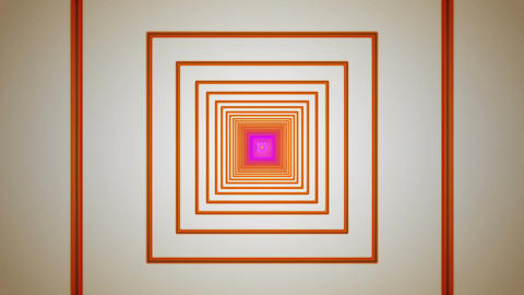orange square tunnel Animation