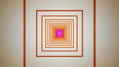 orange square tunnel Stock Video Footage