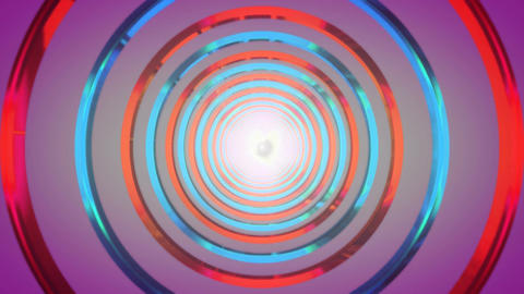 purple rings tunnel Animation