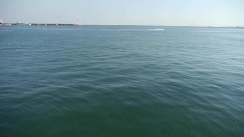 Water ripples surface.sea ocean wave.boat speeding on... Stock Video Footage