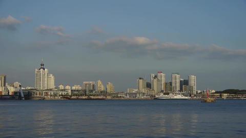 high rise buildings relying beach metropolitan... Stock Video Footage