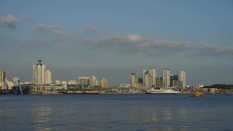 high rise buildings relying beach metropolitan... Stock Video Footage