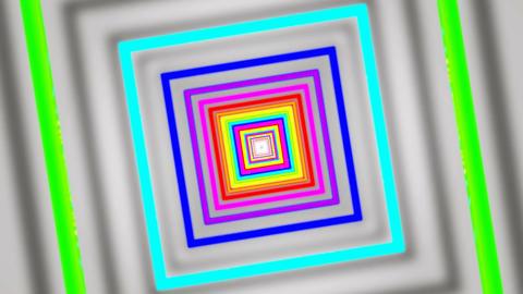shadow rainbow tunnel Stock Video Footage