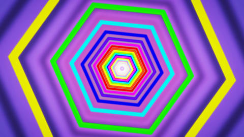 hexagon purple tunnel Stock Video Footage