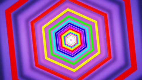hexagon purple tunnel Animation