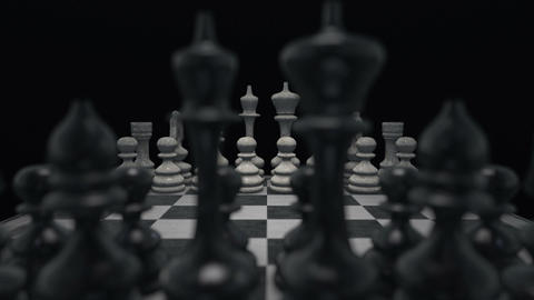Chess Board 02 Stock Video Footage