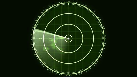 Radar Screen 02 (24fps) Stock Video Footage