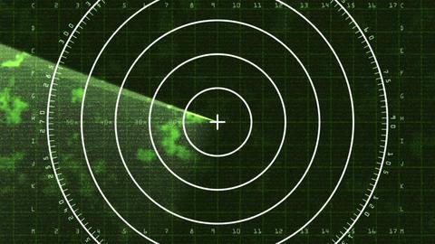 Radar Screen 03 (25fps) Stock Video Footage