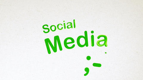 Social Media Diagram Animation on White Stock Video Footage