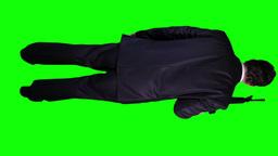 Bodyguard Full Body Green Screen 4 Stock Video Footage