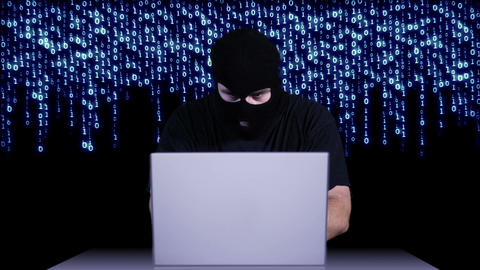 Hacker Working Table Arrested 4 Stock Video Footage