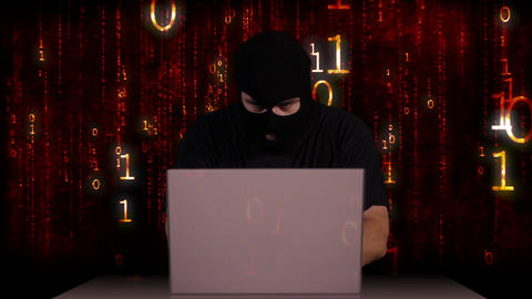 Hacker Working Table Arrested 6 Stock Video Footage