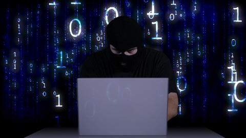 Hacker Working Table Arrested 8 Stock Video Footage
