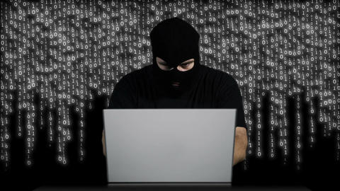 Hacker Working Table Arrested 16 Stock Video Footage