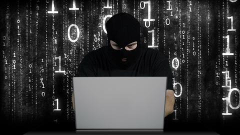 Hacker Working Table Arrested 20 Stock Video Footage