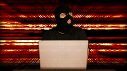 Hacker Working Table Arrested 28 Stock Video Footage