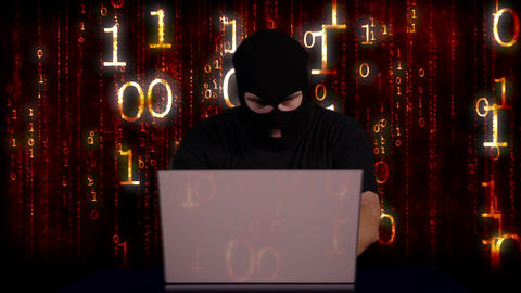 Hacker Working Table Fails 6 Stock Video Footage