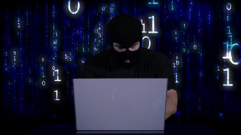 Hacker Working Table Fails 8 Stock Video Footage