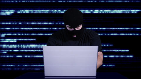 Hacker Working Table Fails 12 Stock Video Footage