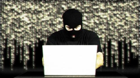 Hacker Working Table Success Matrix 1 Stock Video Footage