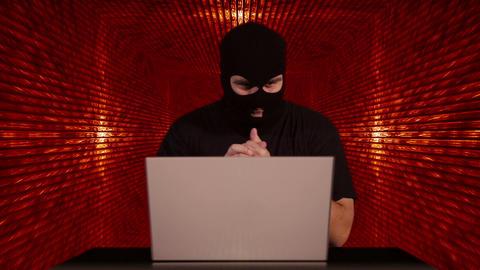 Hacker Working Table Success Tunnel BG 1 Footage