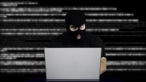 Nervous Hacker Working Hard Table 9 Footage
