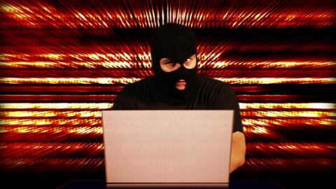Nervous Hacker Working Hard Table 13 Footage